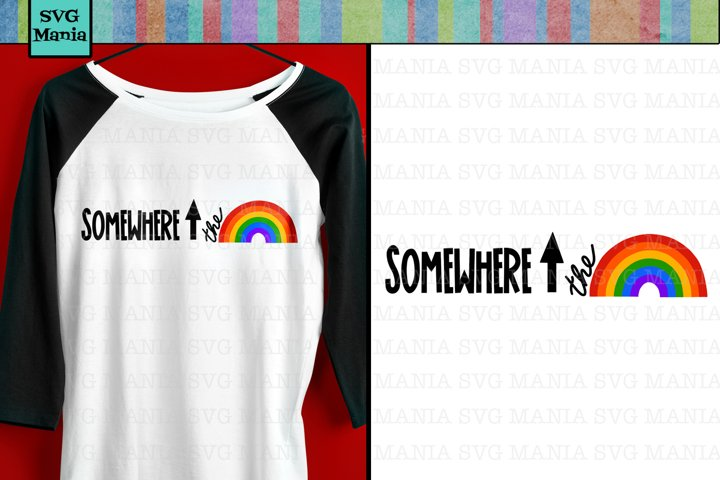 Graphic Rainbow SVG File, Rainbow Shirt SVG, Pride SVG File
