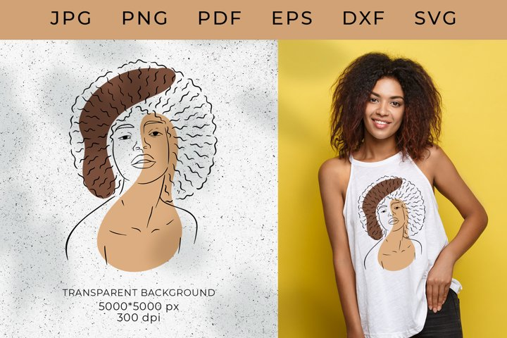 Black woman SVG,African American Woman, Black Girl,Afro SVG