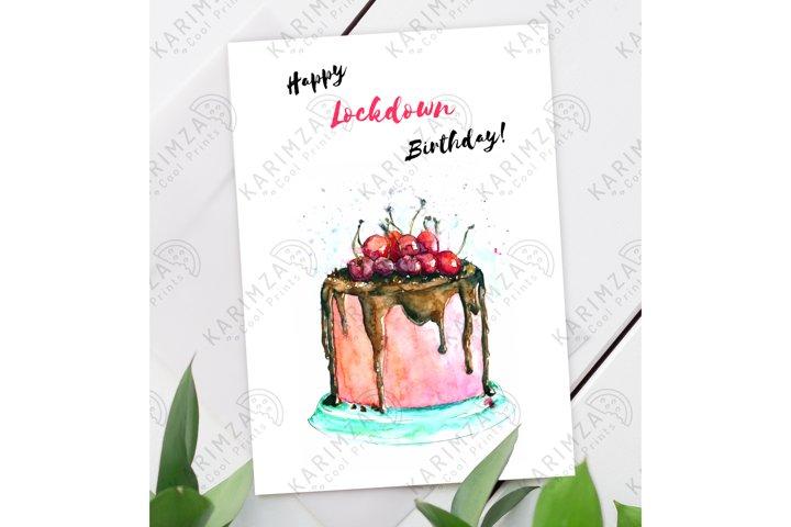 Quarantine birthday card, Lockdown Birthday Card, download