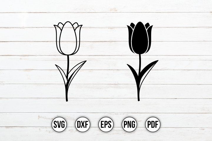 Flower SVG Design | Tulip SVG | Floral Clipart