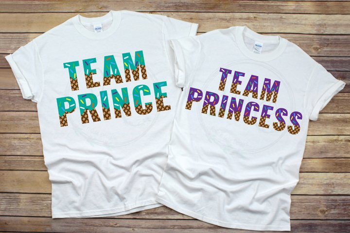Team Prince and Team Princess SVG, Whats the Scoop SVG
