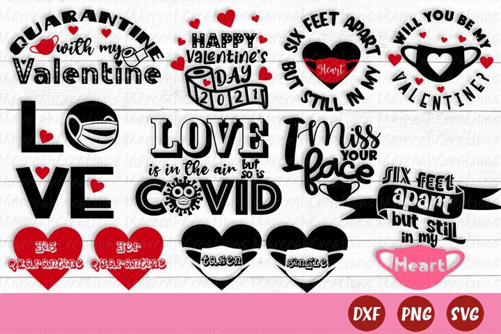 Valentines Day Quarantine SVG Bundle   Quarantine SVG