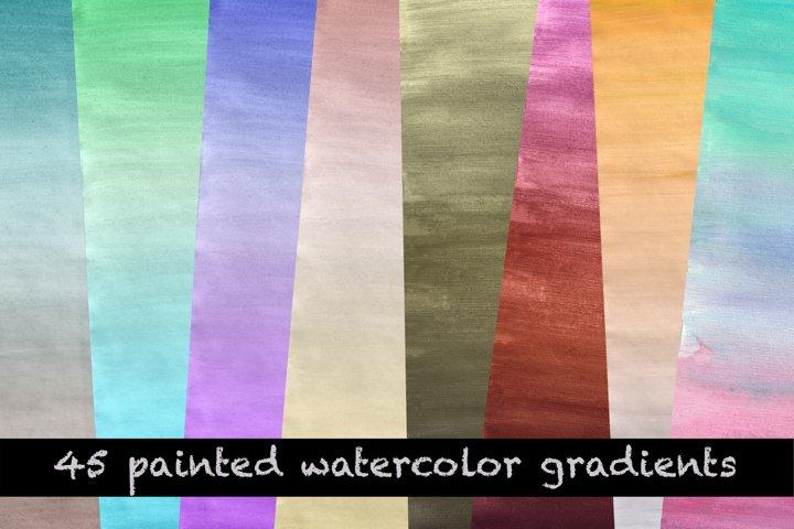 45 Watercolor Gradients