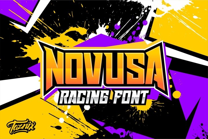 Novusa Racing Font