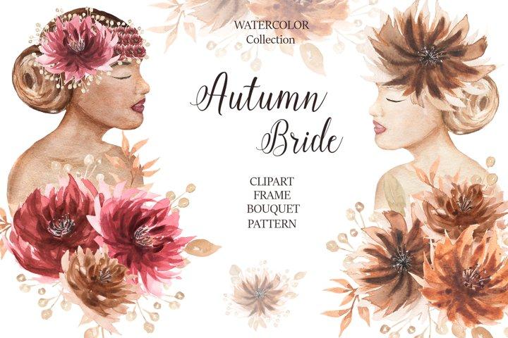 Watercolor Autumn Bride Collection