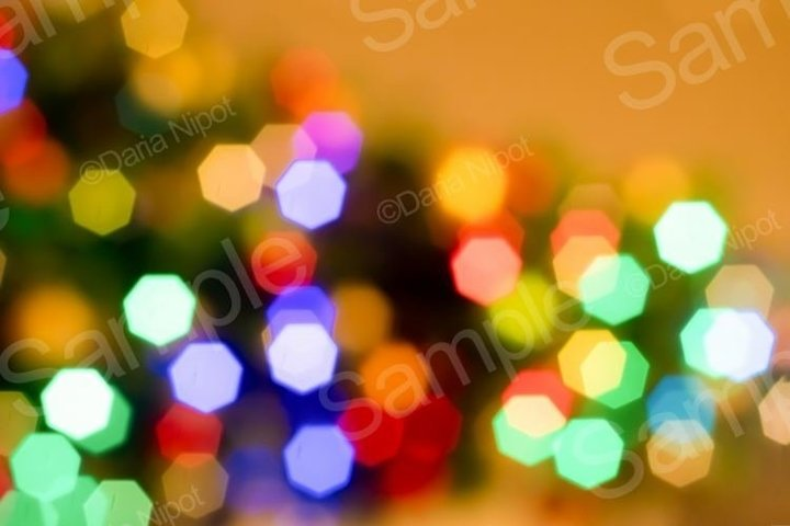 Abstract blurred disfocused Christmas lights background