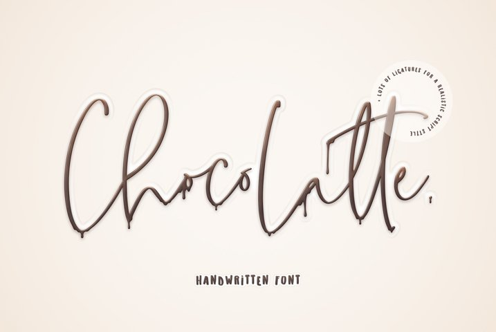 ChocoLatte Handwritten Script Font