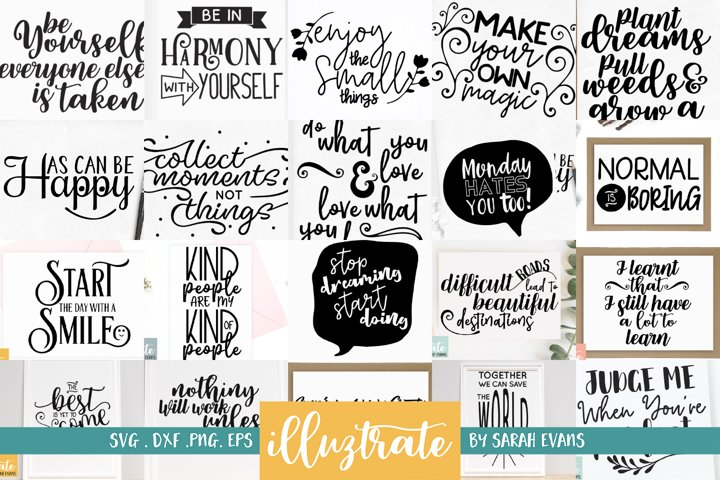 Positive Quotes SVG Bundle | Inspirational SVG Designs