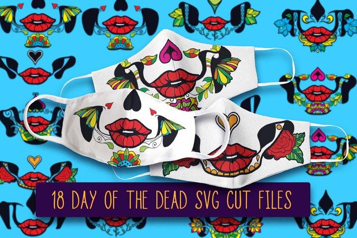 Sugar Skull Face Mask SVG | Halloween Face Mask SVG Files