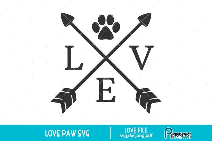 Love Crossed Arrow svg - a dog lover svg vector file