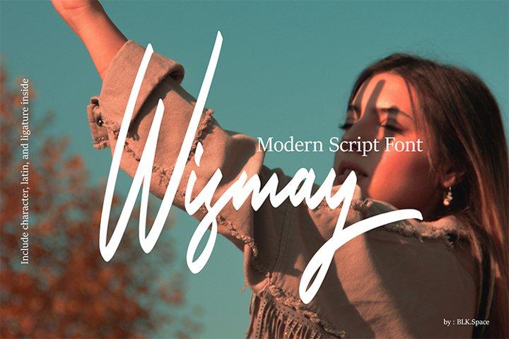 Wismay - Modern Script Font