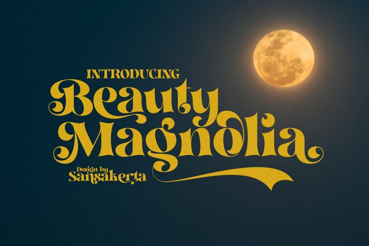 Beauty Magnolia - Display Font - Free Font Of The Week Design8