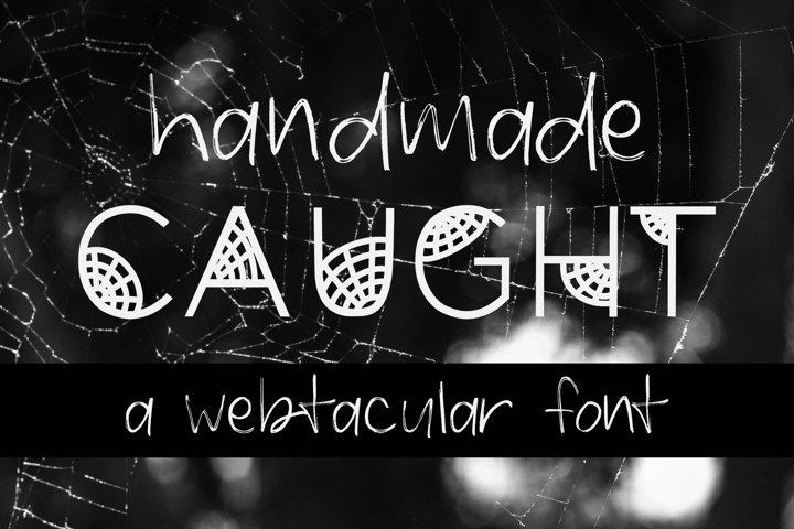 Caught Font for Halloween Cobweb Font Halloween Font OTF TTF