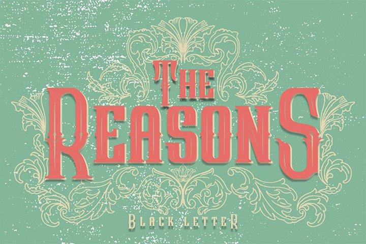 The Reasons Black Letter Font Extra Bonus