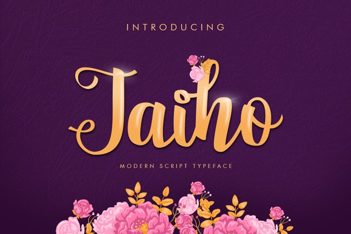 Jaiho Script (Duo Font) example
