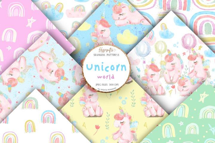 Unicorn patterns,rainbow patterns