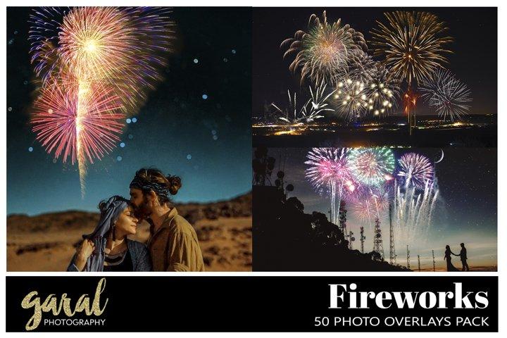50 FIREWORKS Photo Overlays
