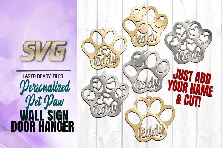 Personalized Pet Tag Earring Svg Glowforge Files Bundle