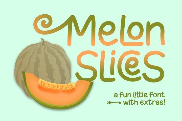 Melon Slices - a fun little font