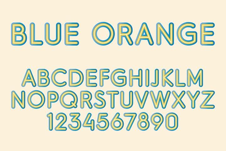 Blue Orange Color SVG Font