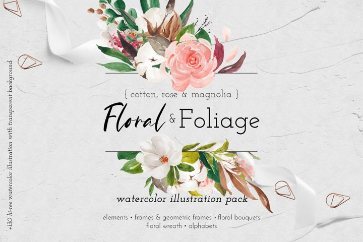 Floral & Foliage Illustration Pack