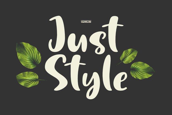 Just Style | Cute Handwritten Font