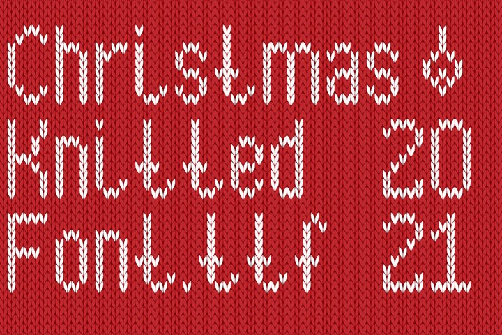 Christmas Knitted Font Version 3.0