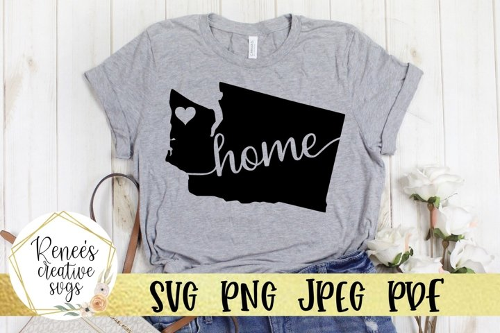 Washington Home | State SVG | SVG Cutting file