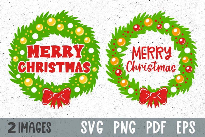 Christmas wreath svg Merry Christmas decor svg cut files