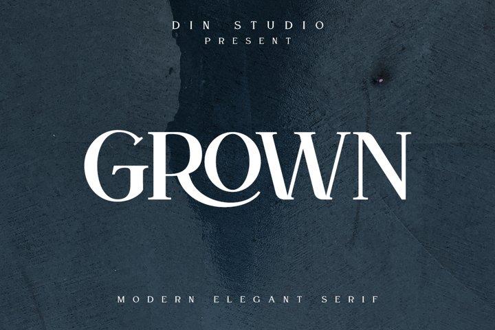 GROWN - Modern Serif