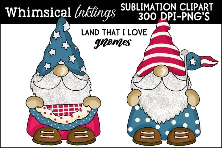Land That I Love Gnomes Sublimation Clipart example