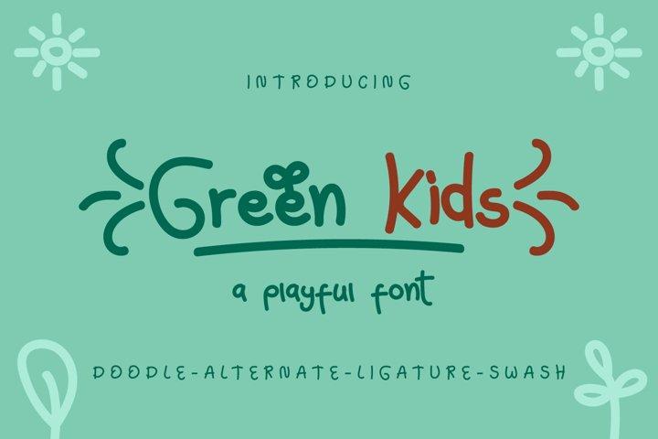 Green Kids - Playful Font
