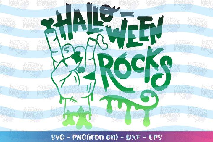 Halloween svg Halloween Rocks svg Zombie hand rock sign