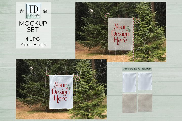 Yard Flag Mockups for Christmas, A Flag Mock-Up for Winter
