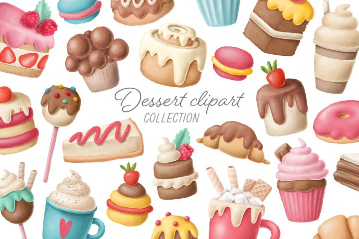 Dessert clipart collection