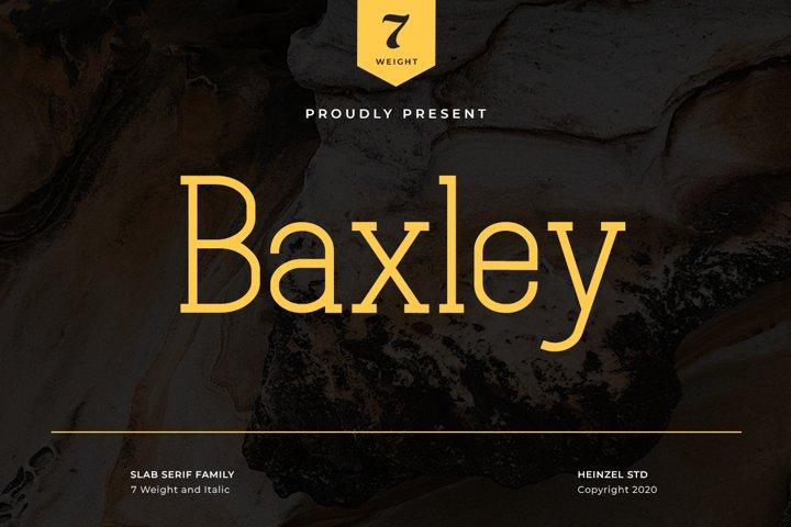 Baxley Slab Serif