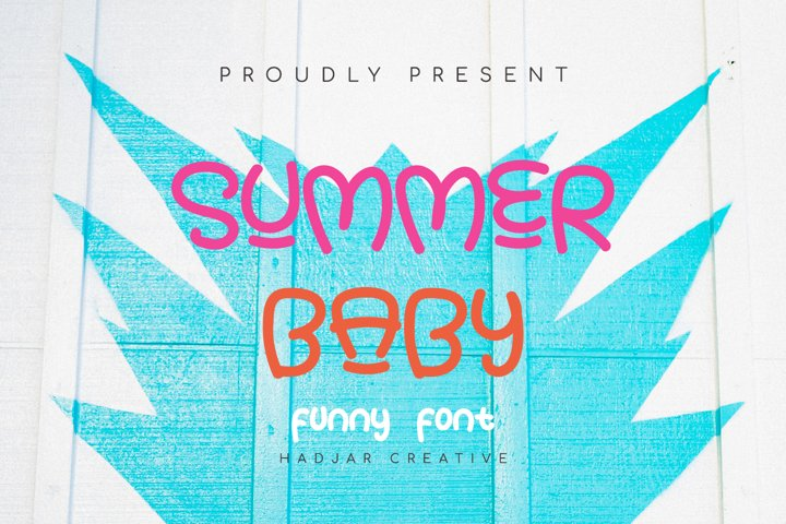 SUMMER BABY - Summer Fun Font for Crafter