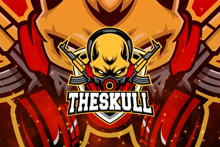 Skull Logo E-sport Mascot