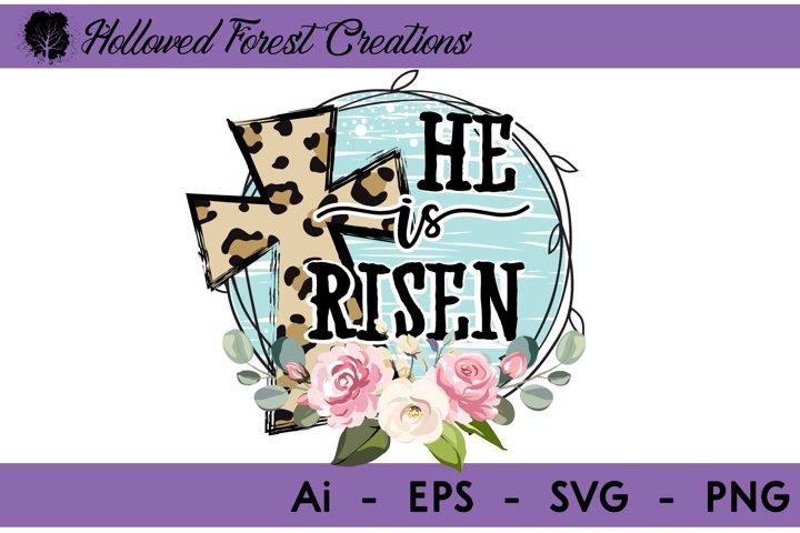 He is Risen Cheetah Cross