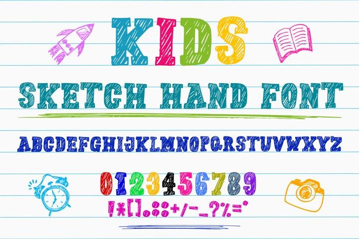 Kids Sketch Hand Font