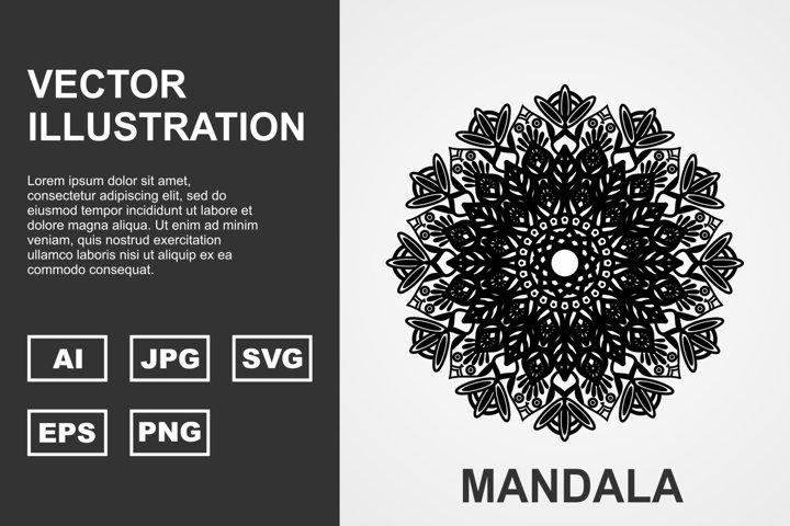 Vector Mandala Illustration Design