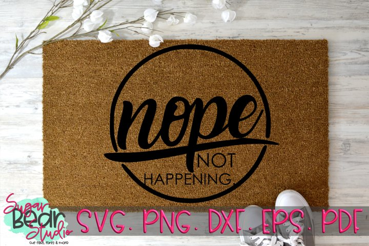 Nope Not Happening - A Funny SVG example