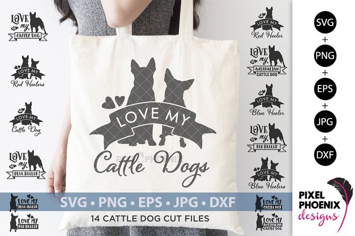 Cattle Dog SVG, Dog SVG, Blue Heeler, Red Heeler