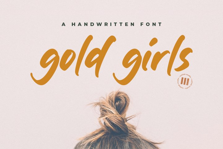 Gold Girls - A Handwritten Font