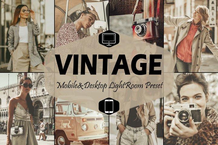 18 Vintage Mobile & Desktop Lightroom Presets, retro presets