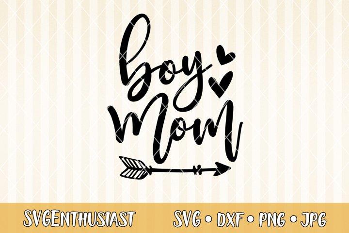 Boy mom SVG cut file