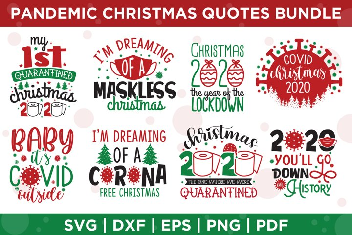 Pandemic Christmas Quotes Bundle SVG, Christmas SVG Bundle