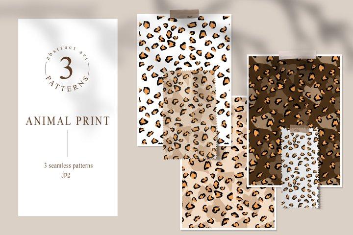 Animal skin seamless patterns. Leopard digital paper