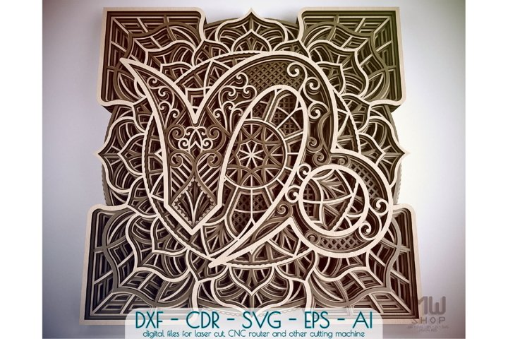 Capricorn Zodiac Sign, Multilayer Capricorn Mandala pattern