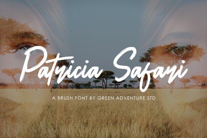 Patricia Safari - A Brush Font